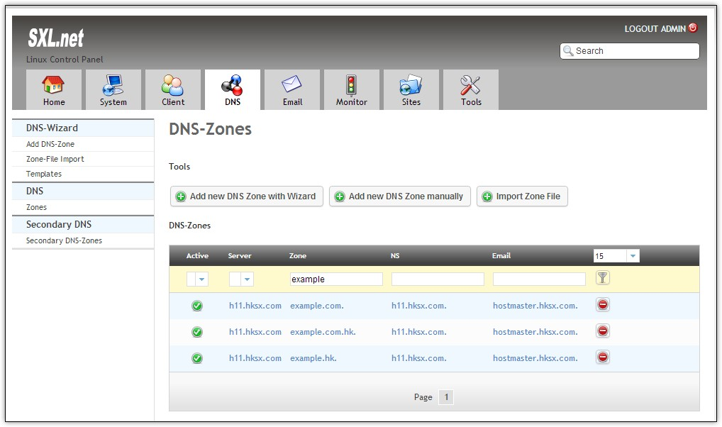 Manage DNS Zone