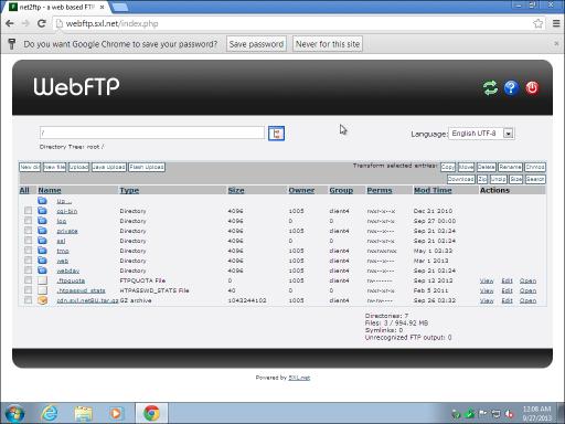 012 WebFTP